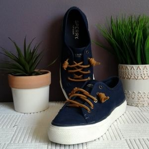 Sperry topside seacoast blue canvas deck shoe